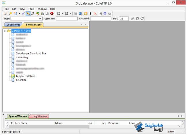 آموزش کار با ftp با نرم افزار CuteFTP