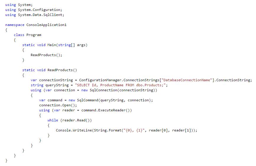 آموزش select  کردن از پایگاه داده در C#  با استفاده از Connection String
