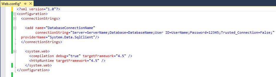 آموزش تنظیم فایل web.config برای اتصال به پایگاه داده sql server
